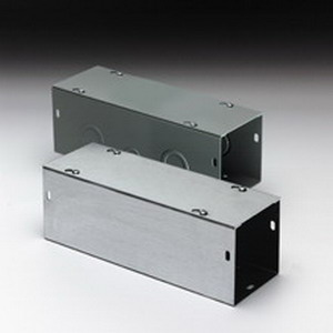 Cooper B-Line 4436G Straight Section; 36 Inch x 4 Inch x 4 Inch, 16 Gauge Steel, ANSI 61 Gray