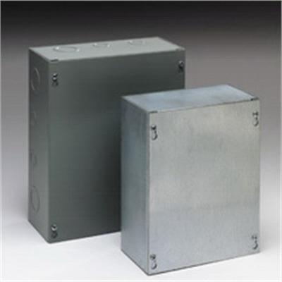 Cooper B-Line 88SCF Cover; 16 Gauge Steel, ANSI 61 Gray, Flush/Screw Mount, Fits 8.000 x 8 Inch Enclosure