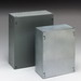 Cooper B-Line 664SCGV-NK Junction Box; 16 Gauge Galvanized Steel, ANSI 61 Gray, Wall Mount, Screwed Cover