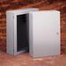 Cooper B-Line 1616P Premier™ Premier Series Panel; 12 Gauge Steel, White, Fits 16 Inch x 16 Inch Enclosure