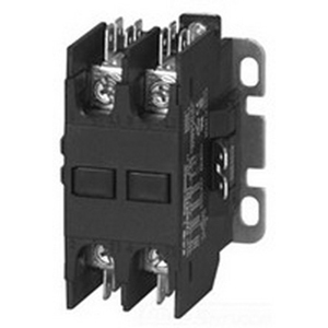 Eaton / Cutler Hammer C25BNB230H Non-Reversing Definite Purpose Contactor; 2-Pole, 277 Volt AC At 60 Hz Coil, 30 Amp Inductive Full Load, 40 Amp Resistive
