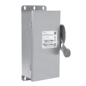 Eaton / Cutler Hammer DH322NWK 4-Wire Fusible/Neutral Heavy-Duty Safety Switch; 240 Volt AC/250 Volt DC, 60 Amp, 3-Pole, NEMA 4X
