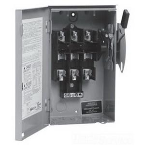 Eaton / Cutler Hammer DG324NRK 4-Wire Fusible/Neutral General Duty Safety Switch; 240 Volt AC, 200 Amp, 3-Pole, NEMA 3R
