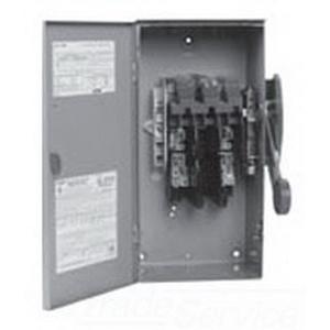 Eaton / Cutler Hammer DH325NRK 4-Wire Fusible/Neutral Heavy-Duty Safety Switch; 240 Volt AC/250 Volt DC, 400 Amp, 3-Pole, NEMA 3R