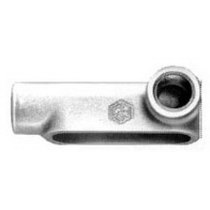 Cooper Crouse-Hinds LR17-SA Condulet® Type LR Conduit Outlet Body; 1/2 Inch, Form 7, Threaded, Copper-Free Aluminum