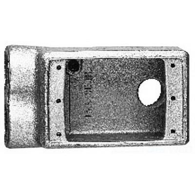 Cooper Crouse-Hinds FSSA2 Condulet® 1-Gang FS Device Box; 2-3/4 Inch Depth, Copper-Free Aluminum, 3/4 Inch Hub