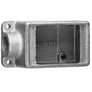 Cooper Crouse-Hinds FS1-SCA Condulet 1-Gang FS Device Box 1-7/8 Inch Depth  Copper-Free Cast Aluminum  1/2 Inch NPT Hub
