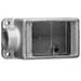 Cooper Crouse-Hinds FS1-SCA Condulet® 1-Gang FS Device Box; 1-7/8 Inch Depth, Copper-Free Cast Aluminum, 1/2 Inch NPT Hub