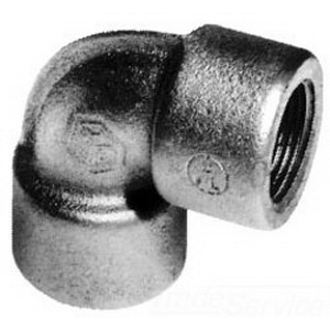 Cooper Crouse-Hinds EL39-SA 90 Degree Elbow; 1 Inch, FNPT, Copper-Free Aluminum