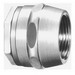 Cooper Crouse-Hinds HUB1 Insulated Conduit Hub; 1/2 Inch, MNPT x Tapered Female, Malleable Iron
