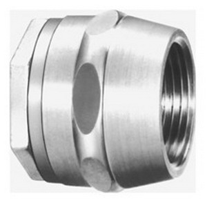 Cooper Crouse-Hinds HUB5 Insulated Conduit Hub; 1-1/2 Inch, MNPT x Tapered Female, Malleable Iron