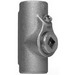 Cooper Crouse-Hinds EYSX11 Expanded Fill Sealing Fitting; 1/2 Inch, Female, Feraloy Iron Alloy/Ductile Iron, Electrogalvanized With Aluminum Acrylic Painted
