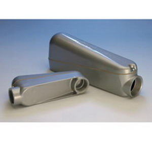 Cooper Crouse-Hinds LBNEC10 Mogul Pulling Elbow; 4 Inch, Tapered Threaded, Die-Cast Copper-Free Aluminum Body and Cover