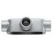 Cooper Crouse-Hinds T250M Type T Conduit Outlet Body; 2-1/2 Inch, Form 5, Threaded, Malleable Iron
