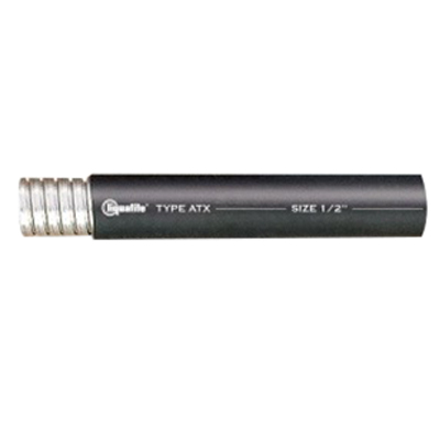 Electri-Flex 61201 Liquatite® Liquidtight Flexible Metal Conduit ; 1/2 Inch, 100 ft Length, Steel Strip, PVC Jacket