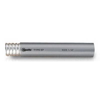 Electri-Flex EF11-GRY-1/2-100FT Liquatite® Liquidtight Flexible Conduit; 1/2 Inch, 100 ft Length, Steel Strip, PVC Jacket, Plated