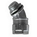 O-Z/Gedney 4Q-4300 Ground-Tite® Type 4Q-L 45 Degree Liquidtight Connector; 3 Inch, Malleable Iron, Electro-Plated Zinc, Tapered NPT