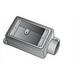 O-Z/Gedney FD175A Deep 1-Gang FD Cast Device Box; Copper-Free Aluminum, 3/4 Inch Hub