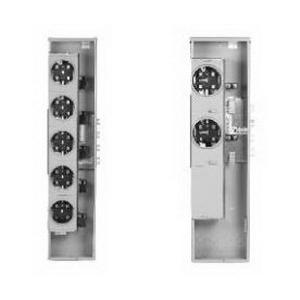 GE Distribution TMPR8520R Meter Mod® III Ringless Meter Stack Module; 200 Amp Socket, 800 Amp Bus, 1-Phase, 5-Jaw