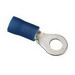 Ideal 83-2221 Vinyl Insulated Ring Terminal; 16-14 AWG, #6 Stud, Brass, Blue, 50/BX