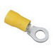 Ideal 83-2371 Vinyl Insulated Ring Terminal; 12-10 AWG, 3/8 Inch Stud, Brass, Yellow, 25/BX