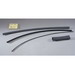 Ideal 46-601 Thermo-Shrink® 2:1 Ratio Thin Wall Heat Shrinkable Tubing; 1/16 Inch x 4 ft, 16 AWG, Black