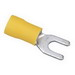 Ideal 83-7201 Vinyl Insulated Spade Terminal; 12-10 AWG, #6 Stud, Yellow