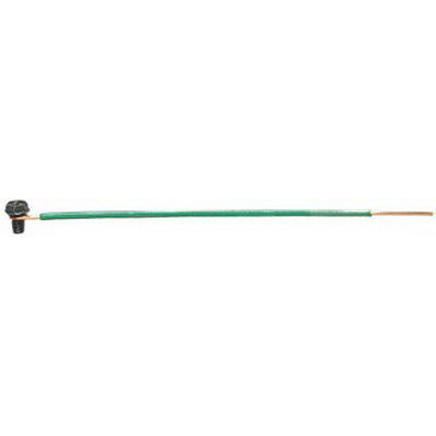 Ideal 30-3410 Solid Wire Grounding Tail; Green, 12 AWG Solid, 10 Inch Length, 50/Bag