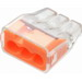 Ideal 30-1033J In-Sure™ Push-In Wire Connector; 20-12 AWG, 3 Conductors, 600 Volt Maximum Building Wire, 3 Ports, Polycarbonate, Orange, 250/Jar