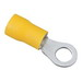 Ideal 84-2241 Vinyl Insulated Ring Terminal; 16-14 AWG, #10 Stud, Brass
