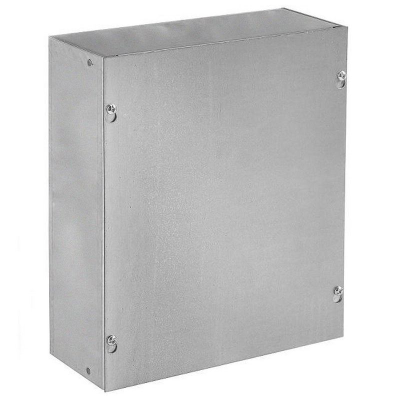 Hoffman ASE30X30X6NK Pull Box; 6 Inch Depth, Steel, ANSI 61 Gray, Wall Mount, Flat/Screw-On Cover