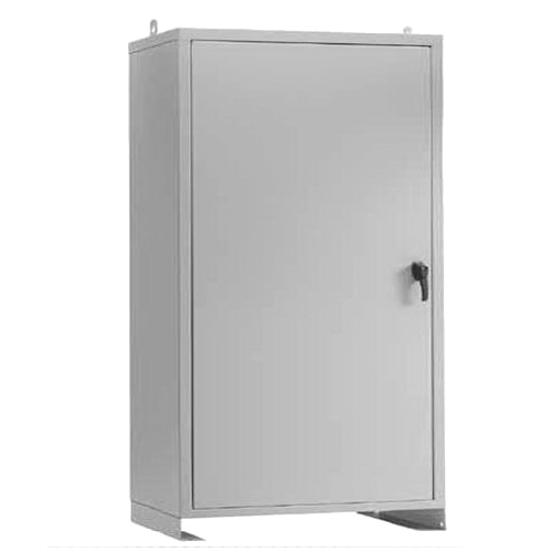 Hoffman Pentair A48N2518FSLP Solid Single Door 3-Point Latch Style Large Equipment Protection Enclosure 14 Gauge Steel  RAL 7035 Light Gray  Free-Stand Mount  Padlocking Cover