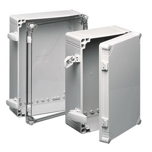 Hoffman Q402013ABI Qline I Junction Box 4.840 Inch Depth  ABS  RAL 7035 Light Gray  Screw-On Cover