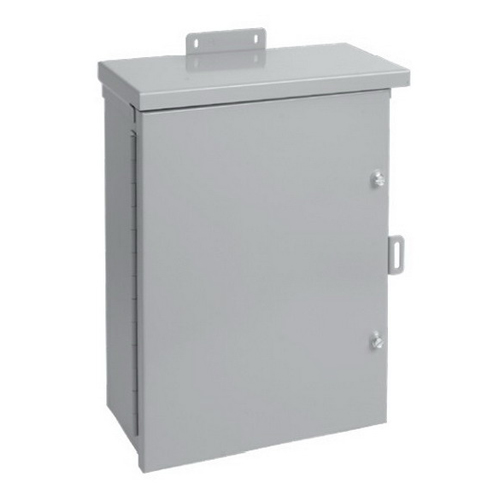 Hoffman Pentair A24R248HCR Solid Single Door Medium Equipment Protection Enclosure; 14 or 16 Gauge Galvanized Steel, ANSI 61 Gray, Wall Mount, Hinged/Padlocking Cover