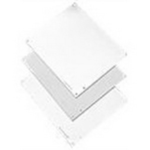 Hoffman A16P12AL Panel; 5052 H-32 Aluminum, White, (4) Hole Mount, For Type 3R, 4, 4X, 12 and 13 Enclosures