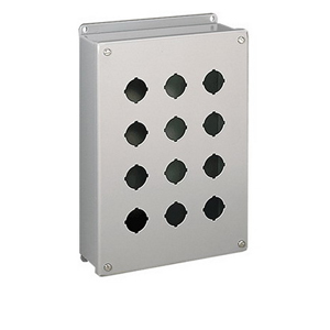 Hoffman E2PBSS Pushbutton Enclosure; 304 Stainless Steel, External Feet Mount