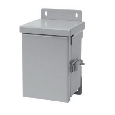 Hoffman Pentair A6R64HCR Solid Single Door Small Equipment Protection Enclosure; 16 Gauge Galvanized Steel, ANSI 61 Gray, Wall Mount, Hinged Cover