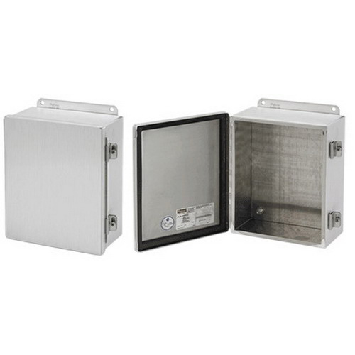Hoffman A8064CHAL Enclosure; 4 Inch Depth, 5052 H-32 Aluminum, Wall Mount, Gasketed/Hinged Cover