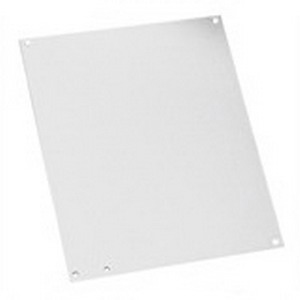 Hoffman A20N12P Panel; 14 Gauge Steel, White, For Type 1 Enclosures and Small Type 3R Enclosures
