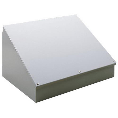 Hoffman C8C8 Consolet; 14 Gauge Steel, ANSI 61 Gray, Desktop/Pedestal/Surface Mount, Sloped Cover