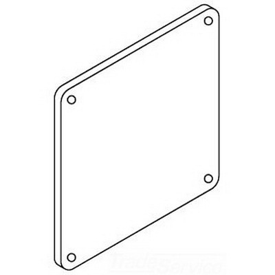 Hoffman F66WPSS Closure Plate For Feed-Through Wireway; 6 Inch x 6 Inch, Stainless Steel
