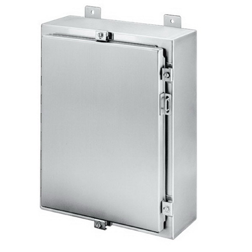 Hoffman Pentair A48H3612SSLP Solid Single Door Equipment Protection Enclosure; 14 Gauge 304 Stainless Steel, Wall Mount, Padlocking Cover