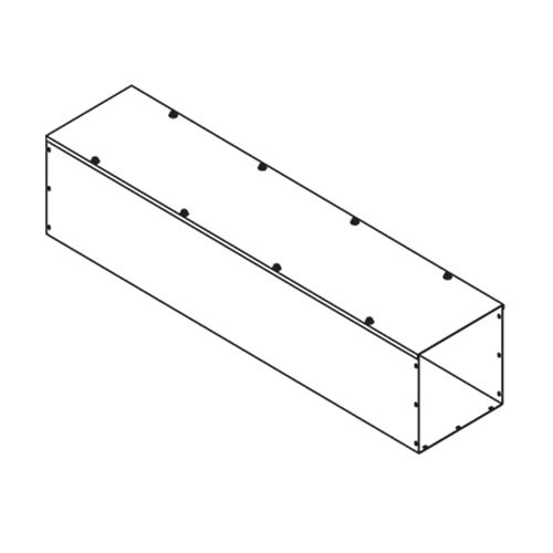 Hoffman F44T160GVPWK Straight Section; 60 Inch x 4 Inch x 4 Inch, 14/16 Gauge Pre-Painted Steel, ANSI 61 Gray