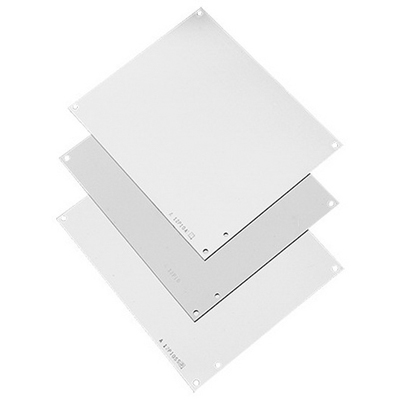 Hoffman A16P14G Panel; 14 Gauge Steel, White, For Junction Box/Enclosure