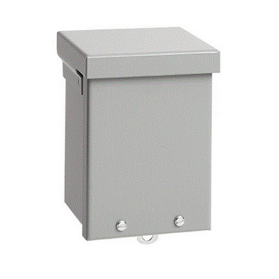 Hoffman A10R104NK A Style Body Enclosure; 4 Inch Depth, 16, 14 Or 12 Gauge Galvanized Steel, ANSI 61 Gray, Wall Mount, Screw-On Cover