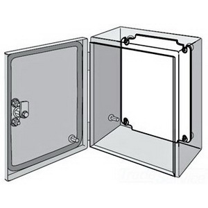 Hoffman Pentair LP2015G Inline™ Conductive Panel; 12 Gauge Steel, White, Fits 150 mm Width x 200 mm Height Enclosures
