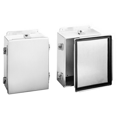 Hoffman A1614NFAL Enclosure; 5052 H-32 Aluminum, Unpainted, Wall Mount, Clamp Cover