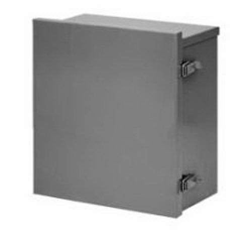 Hoffman Pentair A16R166HCLO Solid Single Door Pull Catch Latch Style Equipment Protection Enclosure; 12 or 16 Gauge Galvanized Steel, ANSI 61 Gray, Wall Mount, Hinged Lift-Off Cover