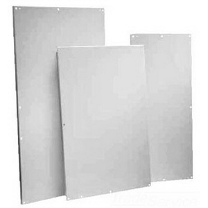 Hoffman A48P36G Panel; Steel, White, (8) Hole Mount, For Type 3R, 4, 4X, 12 and 13 Enclosures