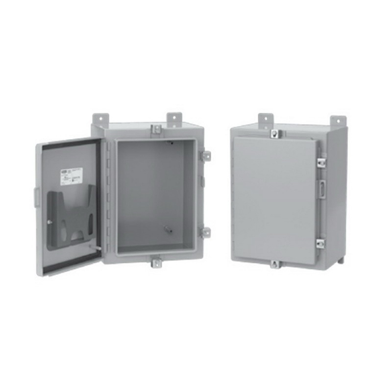 Hoffman Pentair A16H12BLP Solid Single Door Equipment Protection Enclosure; 16 Gauge Steel, ANSI 61 Gray, Wall Mount, Padlocking Cover